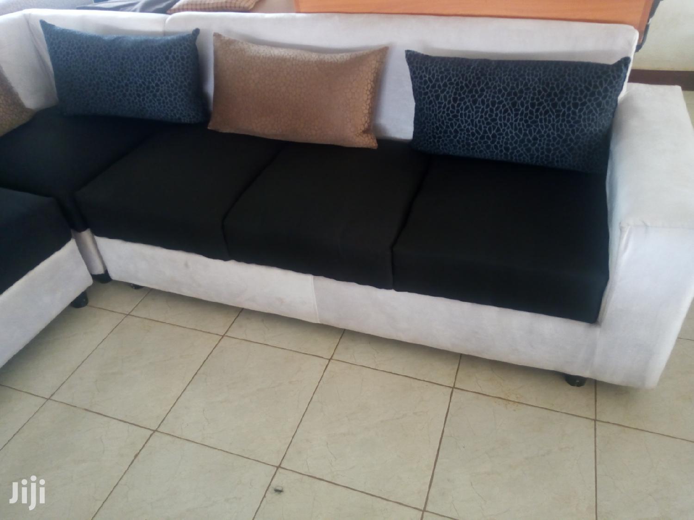 Sectional Corner Fabric Sofa Set