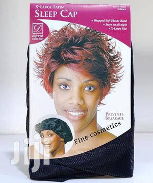 Satin Sleeping Cap Large BLACK Breathable And Comfortable.   Clothing Accessories for sale in Central Region, Kampala