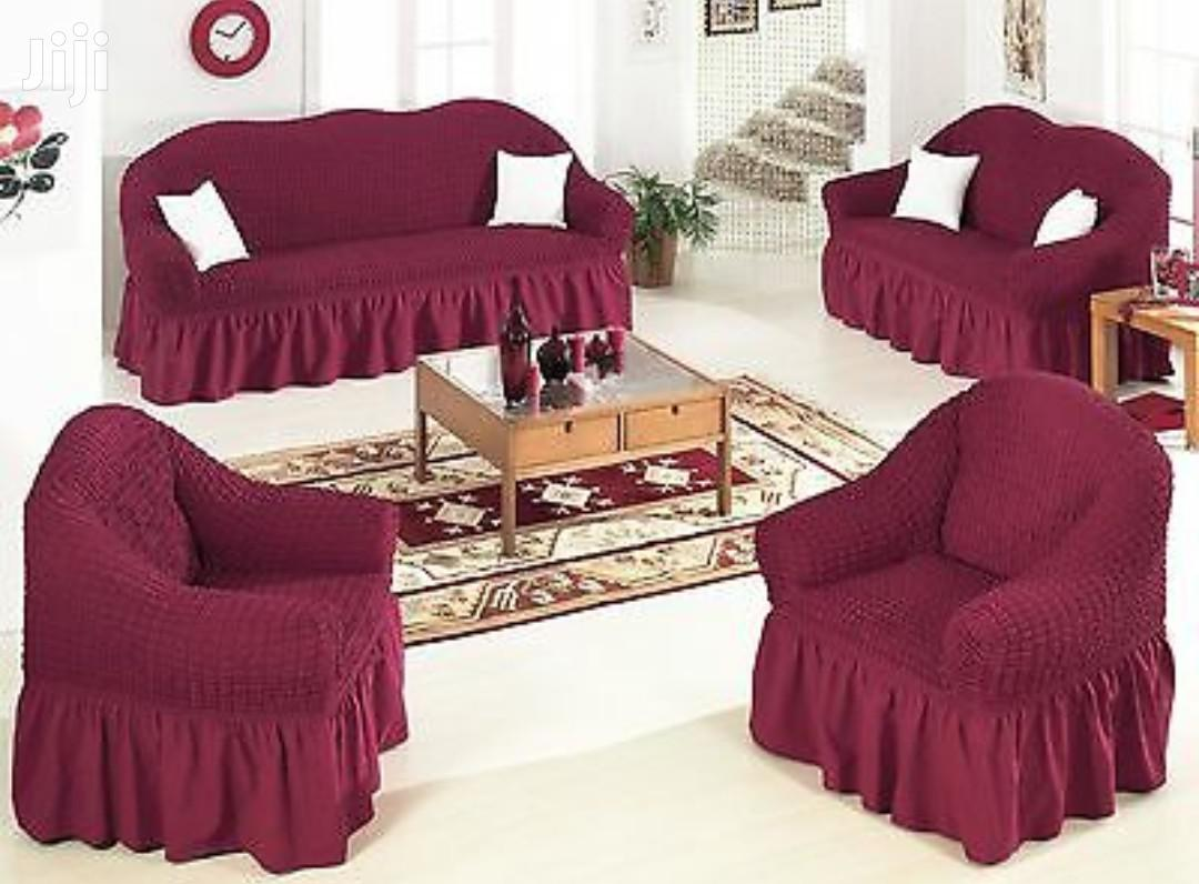 Turkish Elastic Elegant Sofa Covers (3-2-1-1) 7 Seater) | Home Accessories for sale in Kampala, Central Region, Uganda
