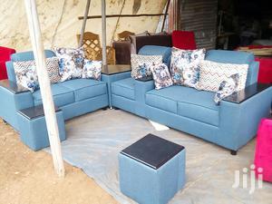 Tabled L Shaped Sofa Set Blue   Furniture for sale in Central Region, Kampala