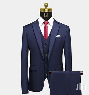 High Quality Men Suit With a Free Necktie Set- (Navy Blue) | Clothing for sale in Central Region, Kampala
