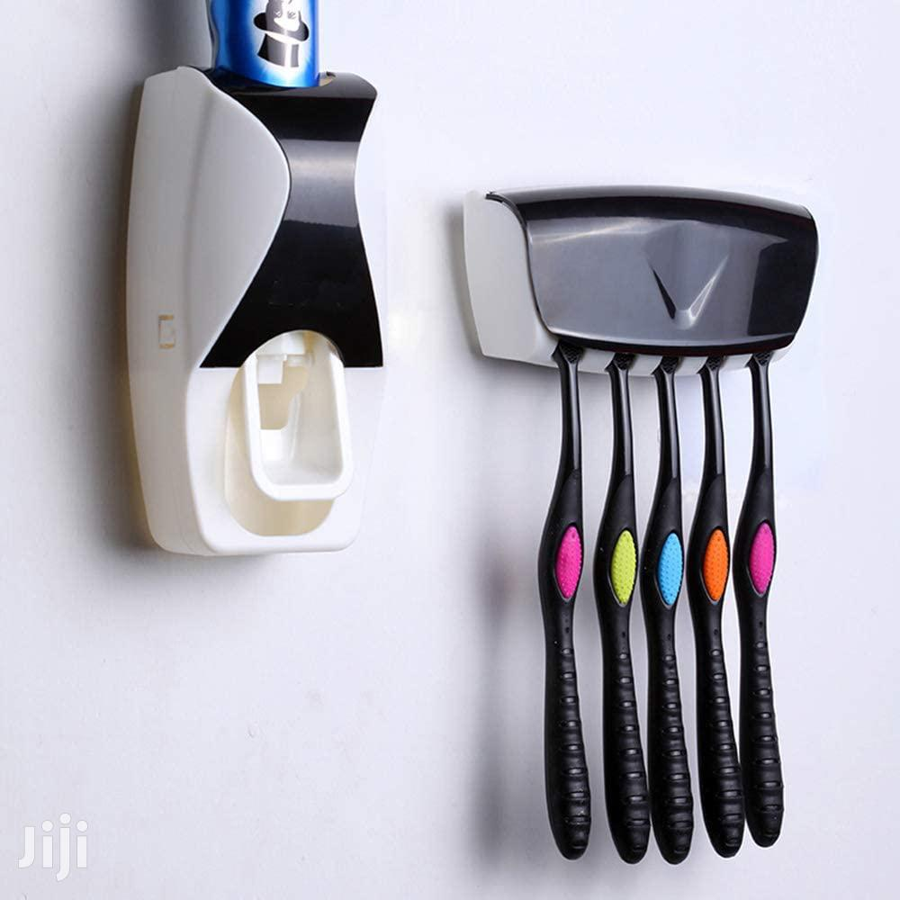 Automatic Toothpaste Dispenser Toothbrush Holder Set