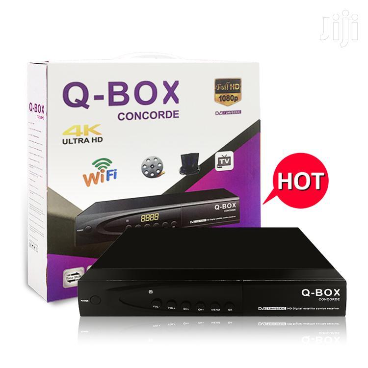 Q-Box Concorde FTA 4k Set Top Box DVB-T2/C/S2 Combo   TV & DVD Equipment for sale in Kampala, Central Region, Uganda