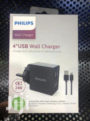 24W Phillips 4 Way Fast USB Charger   Accessories for Mobile Phones & Tablets for sale in Central Region, Kampala