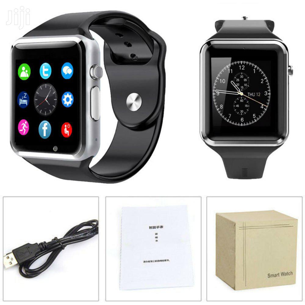 A-series Touchscreen Bluetooth Smartwatch Simcard Support | Smart Watches & Trackers for sale in Kampala, Central Region, Uganda