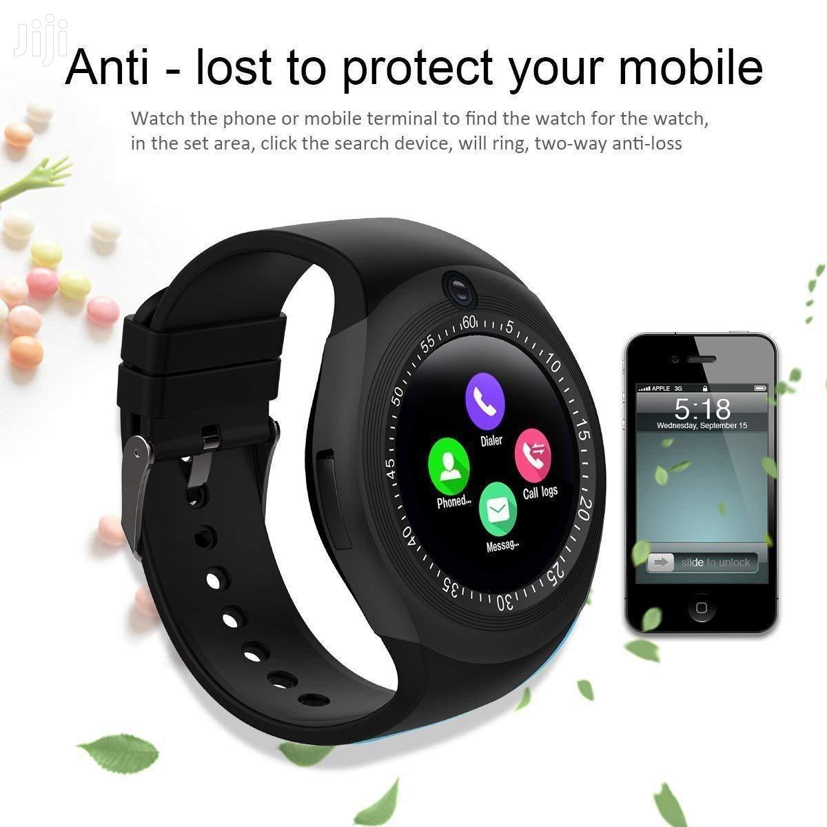 Y-Series Touchscreen Bluetooth Smartwatch Simcard Support | Smart Watches & Trackers for sale in Kampala, Central Region, Uganda