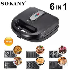Sokany 6 In 1 Sandwich Maker Non Stick And Double Burner   Kitchen Appliances for sale in Central Region, Kampala
