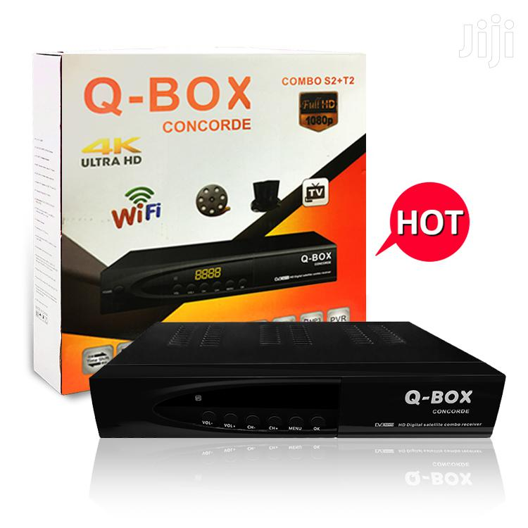 Q-Box Concorde FTA 4k Set Top Box DVB-T2/C/S2 Combo