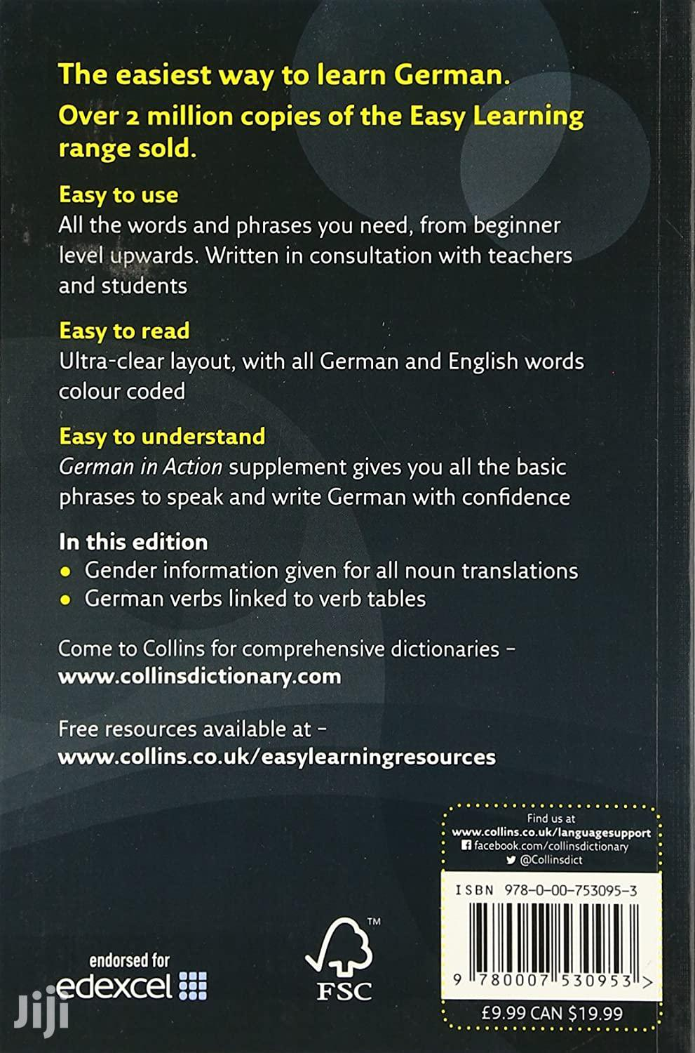 Collins Easy Learning German Dictionary | Books & Games for sale in Kampala, Central Region, Uganda