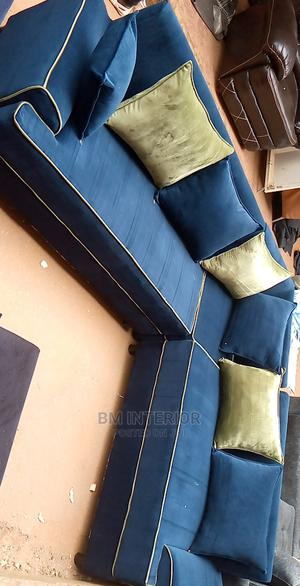 Blue Piped L Sofa   Furniture for sale in Central Region, Kampala