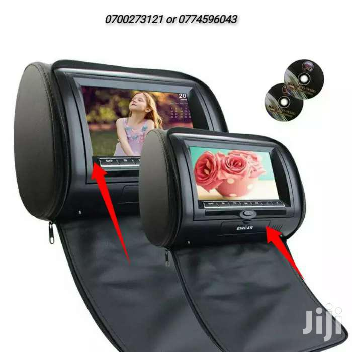 Headrest Pillow Monitors With DVD