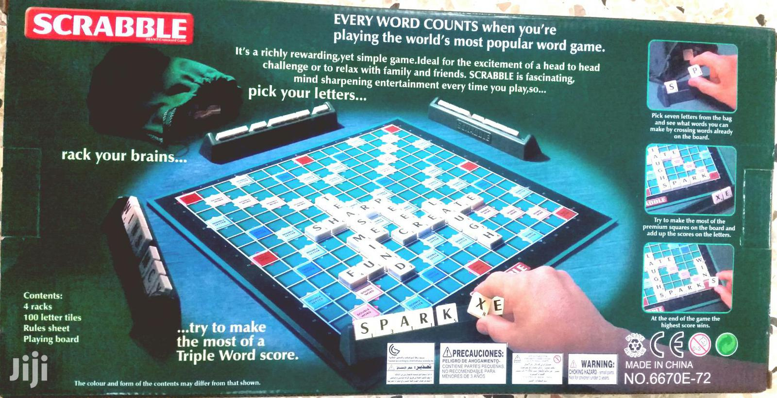 Archive: Scrabble Game / Kids And Adults Scrabble Game