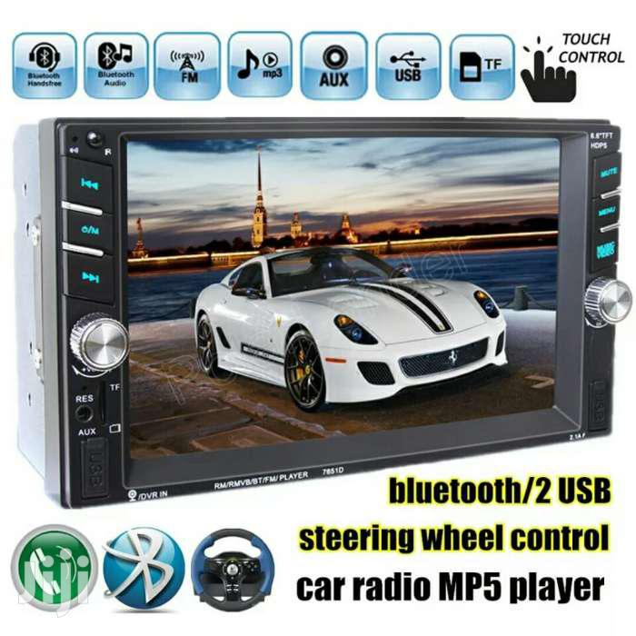 6.6 Inch HD 2 Din MP5 MP4 Player Touch Screen Car FM Radio Stereo