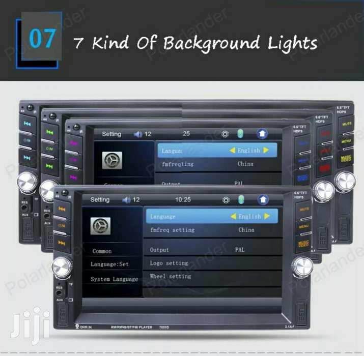 6.6 Inch HD 2 Din MP5 MP4 Player Touch Screen Car FM Radio Stereo | Vehicle Parts & Accessories for sale in Kampala, Central Region, Uganda