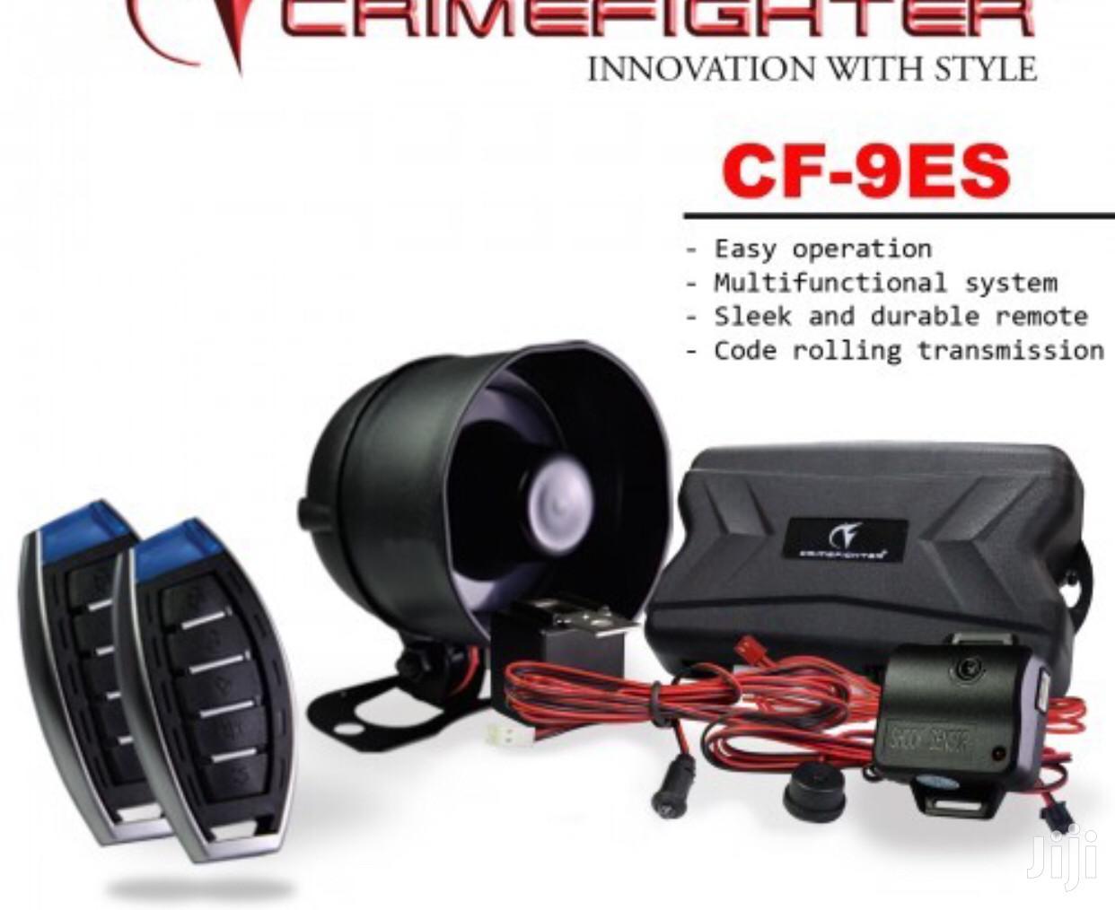 CRIMEFIGHTER CF-9 Remote Keyless Entry 1 Way Car Alarm System