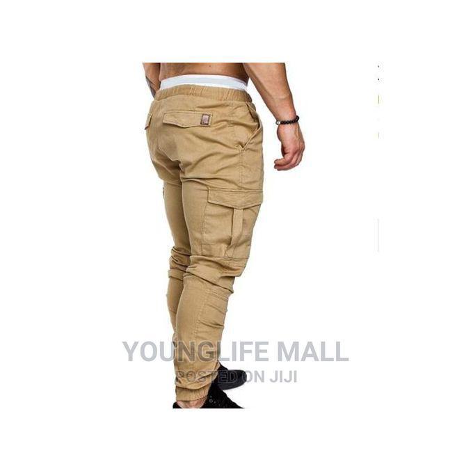 Generic Fashion Cargo Pants - Cream
