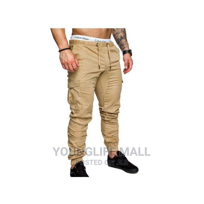 Generic Fashion Cargo Pants - Cream   Clothing for sale in Kampala, Central Region, Uganda