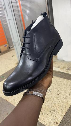 Black Leather Boots | Shoes for sale in Central Region, Kampala