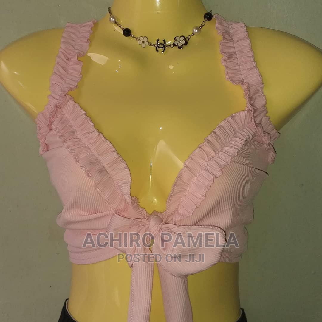 Baby Pink Crop Top   Clothing for sale in Kampala, Central Region, Uganda