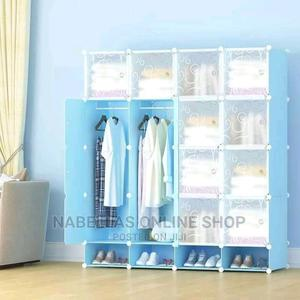 Plastic Frame Portable Wardrobe (Not Assembled) - Blue | Furniture for sale in Central Region, Kampala