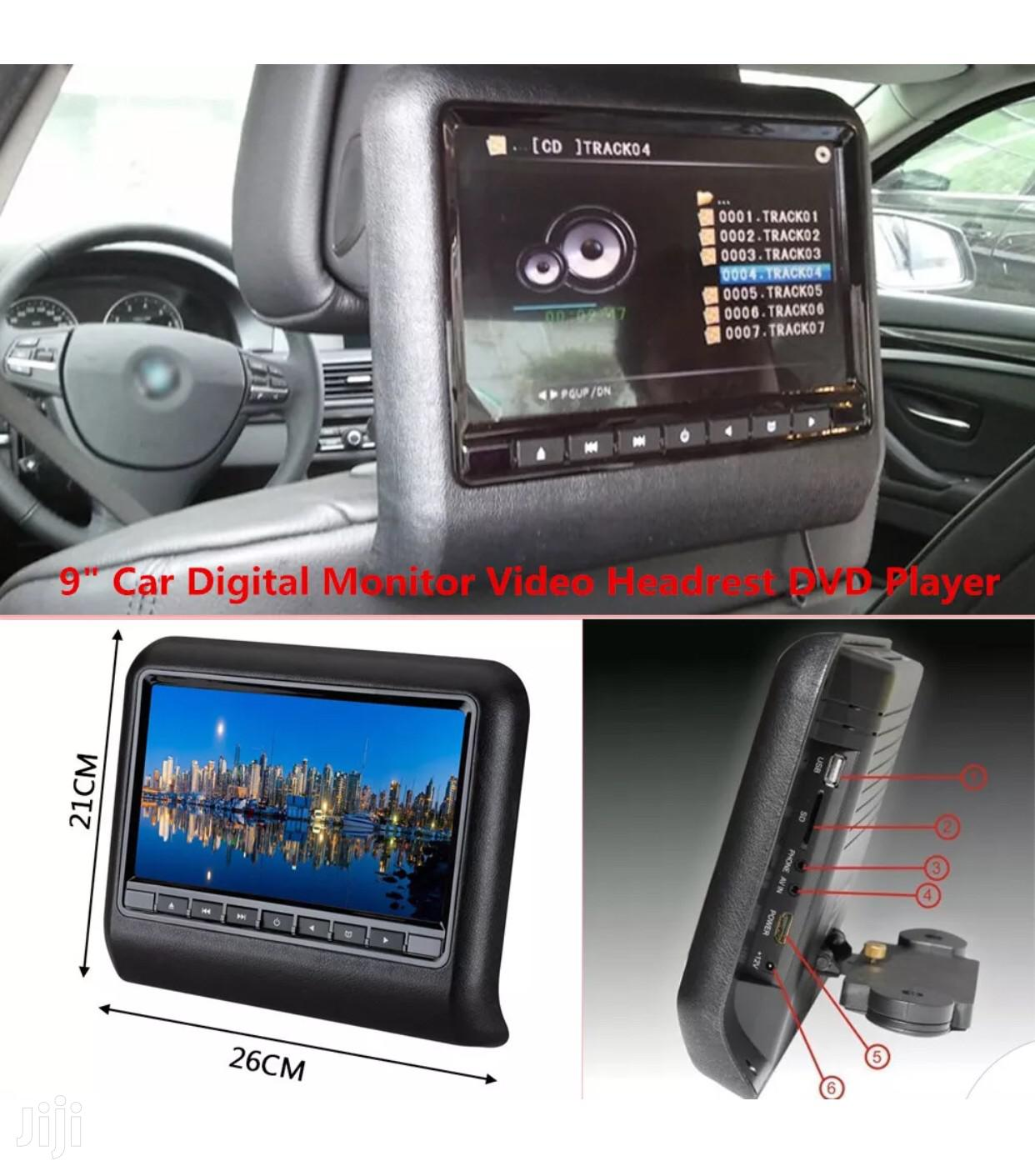 9 Inches Car Headrest DVD Players | Vehicle Parts & Accessories for sale in Kampala, Central Region, Uganda