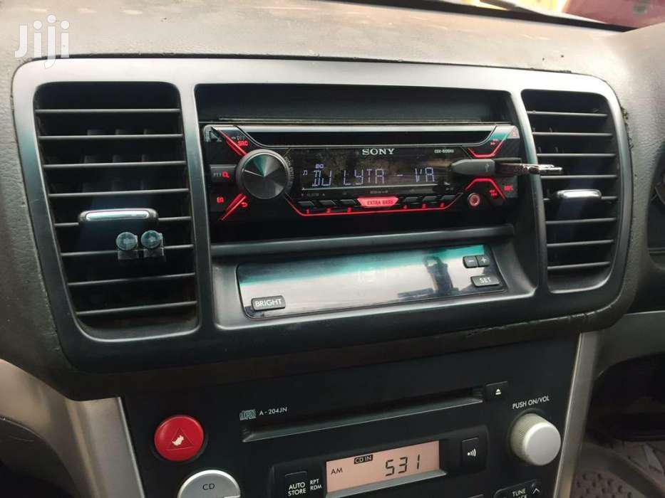 Sony Car Radio In Subaru Legacy