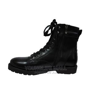 Generic Men's Leather High-Top Boots - Black | Shoes for sale in Central Region, Kampala