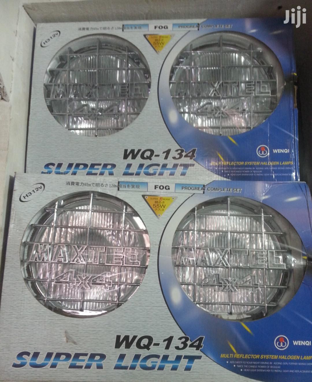 Big Size Sport Lights On A Car Guard