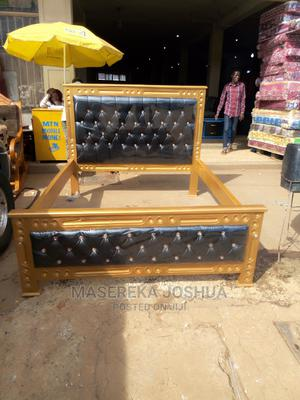 Mega Bed 5 By 6 Gold And Black Colour | Furniture for sale in Central Region, Kampala