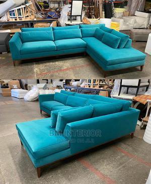 L Blue Velve   Furniture for sale in Central Region, Kampala