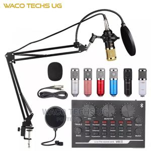 V8ii Sound Card With Professional Studio Microphone | Audio & Music Equipment for sale in Central Region, Kampala