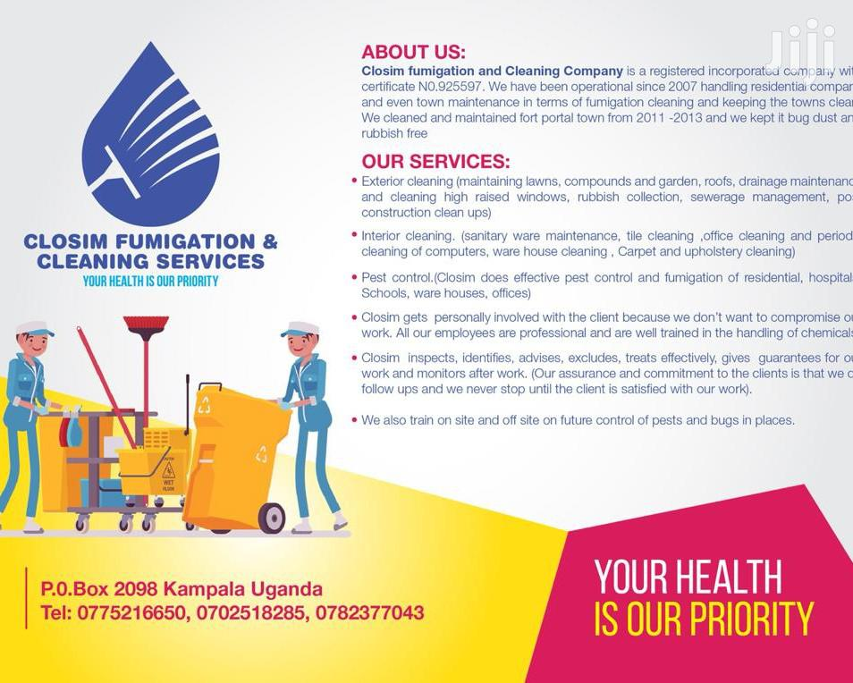 Closim Fumigation And Cleaning Services | Cleaning Services for sale in Wakiso, Central Region, Uganda