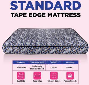 4 by 6 Eurofoam Standard Tape Edge Mattress | Furniture for sale in Central Region, Kampala