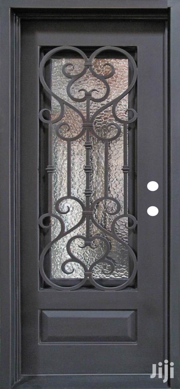 S160819 Wrought Iron Single Doors C