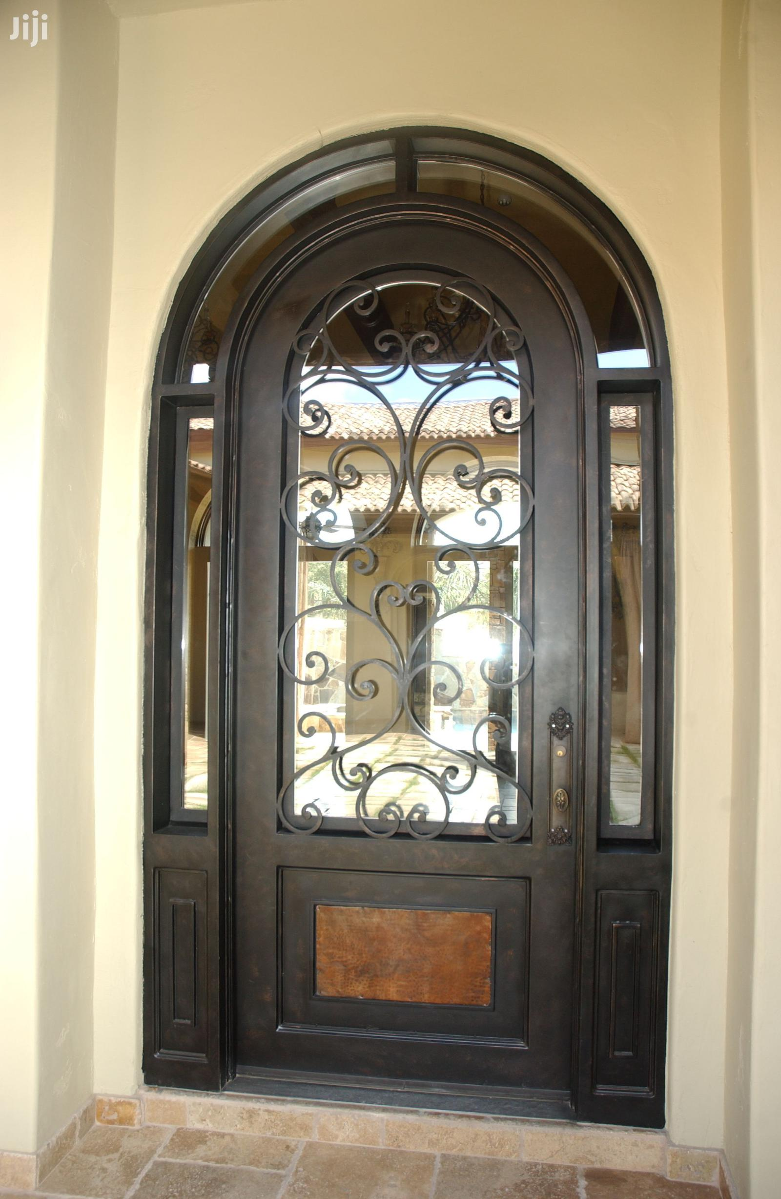 Archive: S160819 Wrought Iron Well Designed Single Doors E