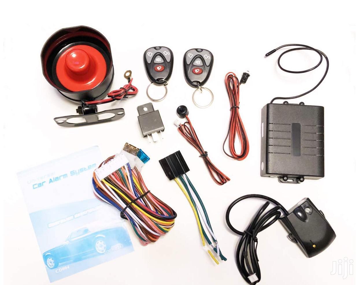 One Way Car Security Alarm System Car Alarm With 2 Remotes