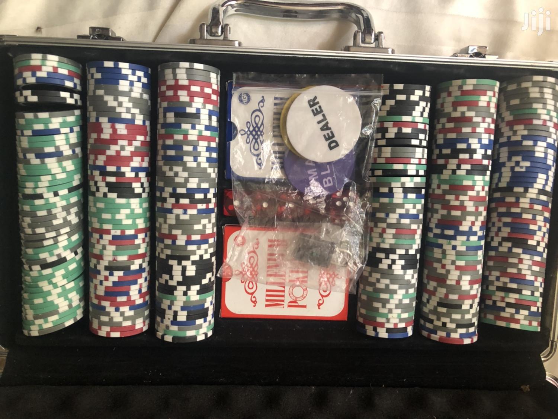 Professional Poker Set Casino Game 300 Poker Chips   Books & Games for sale in Kampala, Central Region, Uganda
