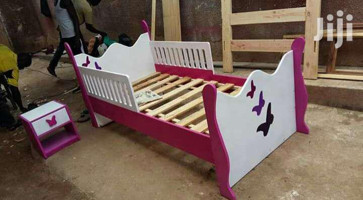 Kids Bed 2in 1 (Lower Bed Pulls Out) | Children's Furniture for sale in Kampala, Central Region, Uganda