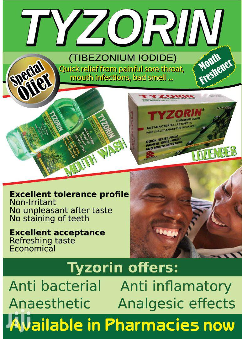 Tyzorin Mouthwash And Lozenges | Bath & Body for sale in Kampala, Central Region, Uganda