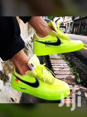 Nike AF1 Off White Neon Green Sneakers