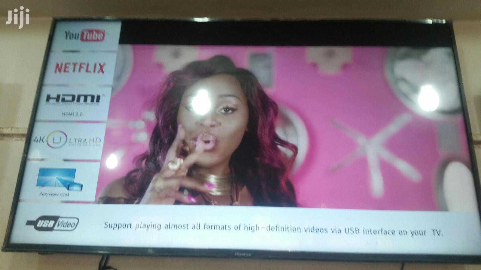 55 Inches Led Hisense TV Smart 4k Uhd | TV & DVD Equipment for sale in Kampala, Central Region, Uganda