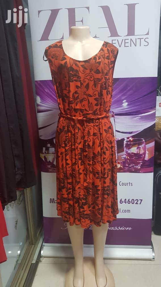 Beautiful Cotton Sleeveless Orange Dress