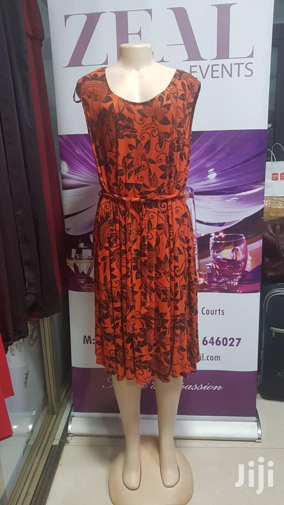 Beautiful Cotton Sleeveless Orange Dress | Clothing for sale in Kampala, Central Region, Uganda