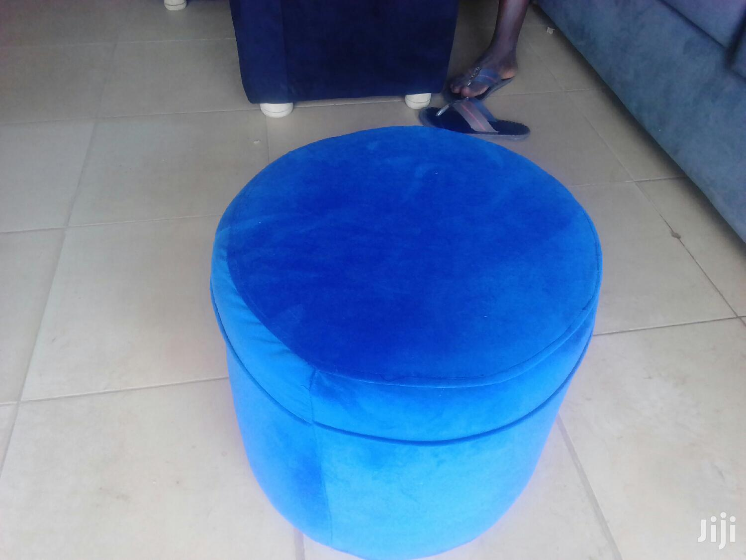 Puffs Of Gud Quality In Blue Colour | Furniture for sale in Kampala, Central Region, Uganda